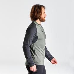 男款保暖健行長袖T恤SH100