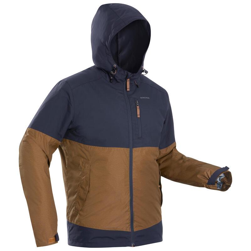 Abrigo Chaqueta de Montaña y Senderismo Nieve Hombre Quechua SH100 Gris Marrón