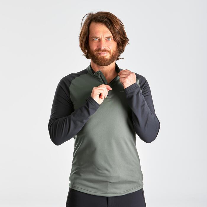 Men's warm long-sleeved hiking T-Shirt - SH100 WARM.