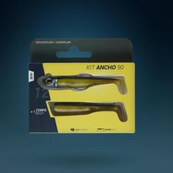 KIT leurres shad texan anchois ANCHO 90 12gr Ayu pêche en mer