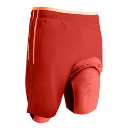 Short de football adulte 3 en 1 TRX rouge