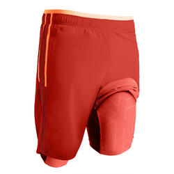Voetbalshort voor volwassenen 3-in-1 TRX rood