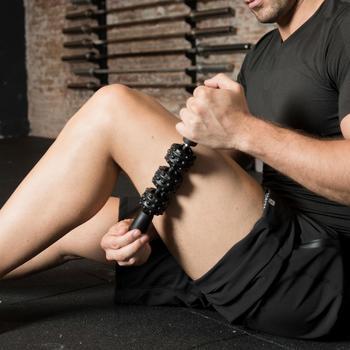Kit de masaje:rodillo, pelota y bastón de masaje