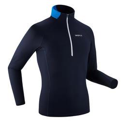 Langlaufshirt Langarm XC S 100 warm Herren dunkelblau
