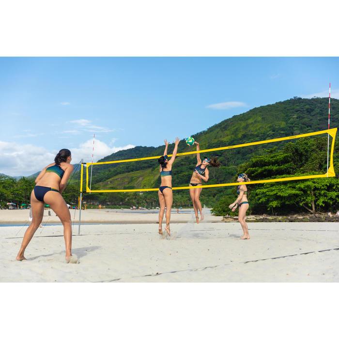 Beachvolleyballnetz Set BV900 offizielle Maße gelb