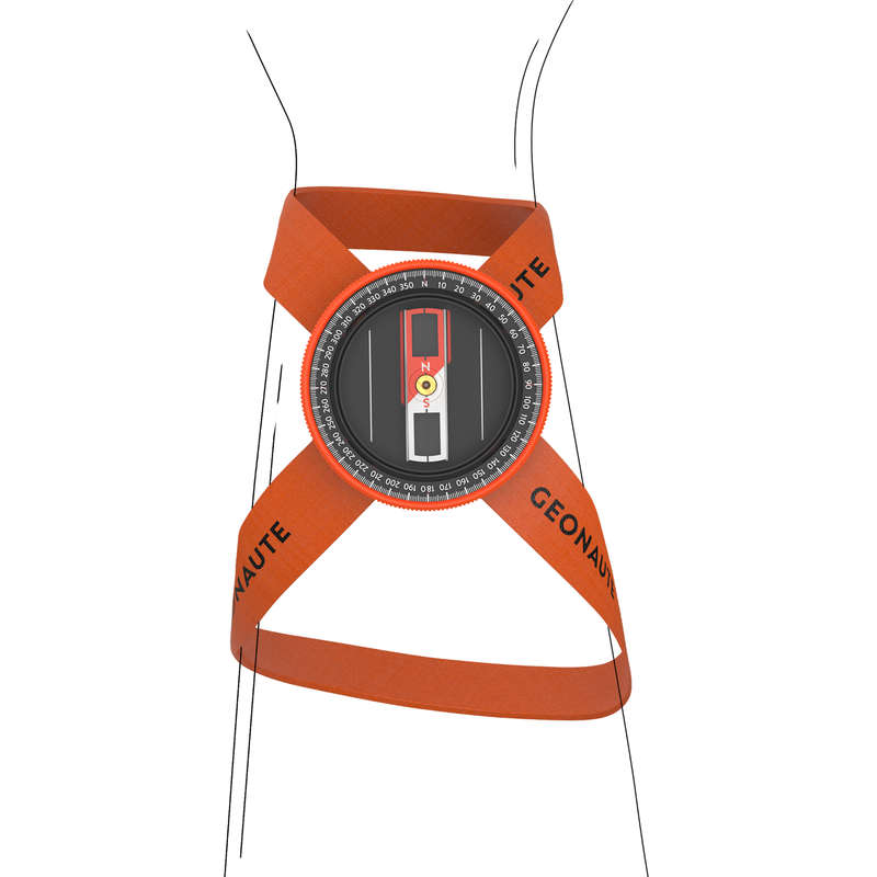 COMPASS AND ORIENTEERING EQUIPMENT Outdoor Equipment - 500 WRIST COMPASS GEONAUTE - Navigational Equipment