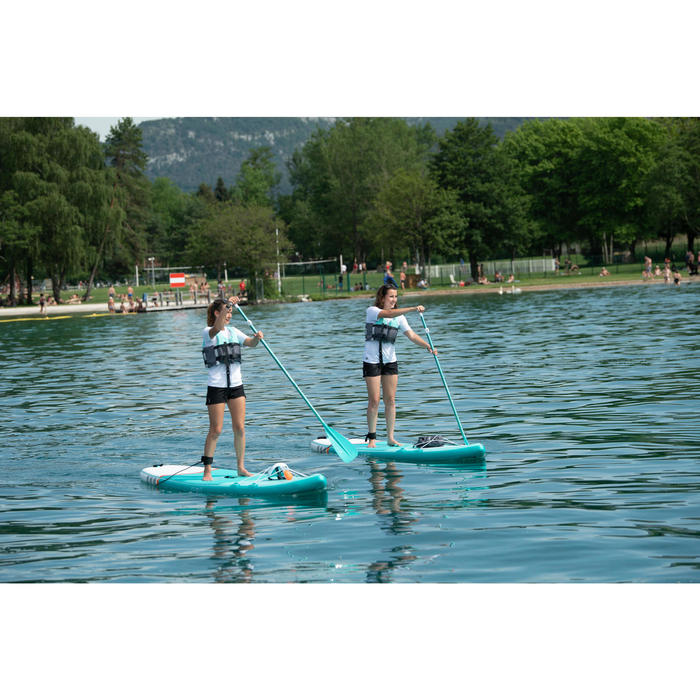 STAND UP PADDLE GONFLABLE DE RANDONNEE DEBUTANT 10 PIEDS VERT