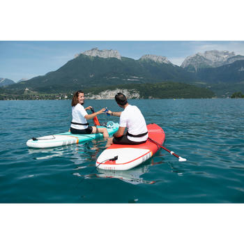 BEGINNER INFLATABLE TOURING STAND-UP PADDLE BOARD 10 FEET RED