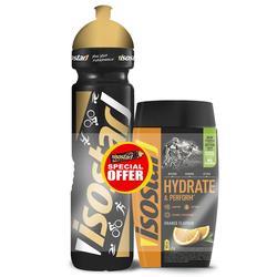 Iso-Getränkepulver Set ISOSTAR HYDRATE&PERFORM Orange 560g + 1L Flasche