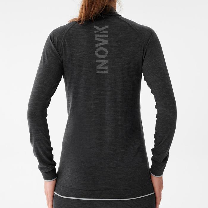Technisch dames T-shirt met lange mouwen in merinowol XC UW S 500