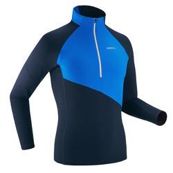 T-shirt leve manga comprida azul XC S TS 500 homem