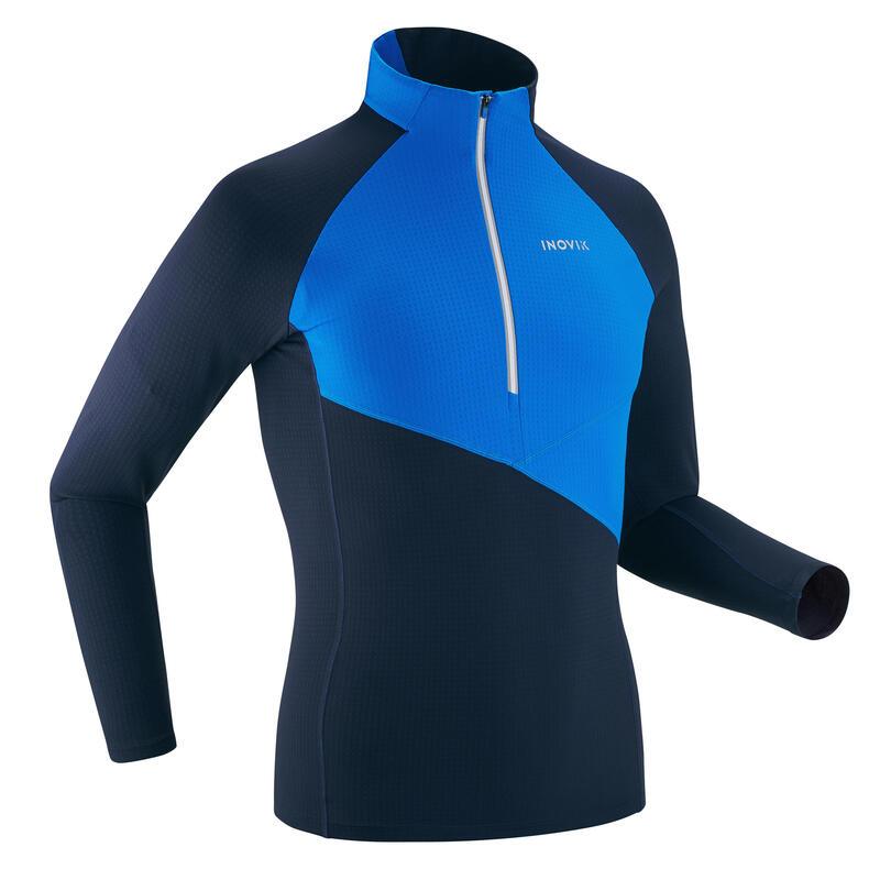 T-shirt ski de fond manches longues léger 1/2 zip Homme XC S LIGHT 500 - Bleu
