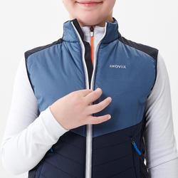 Bodywarmer langlaufen voor kinderen XC S 500 marineblauw