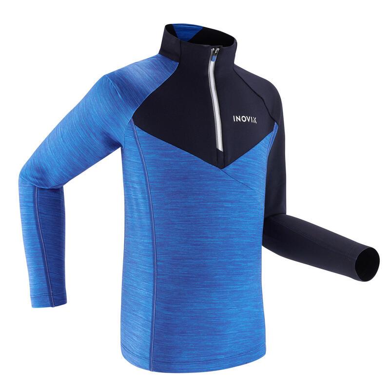 Kids' Warm Long-Sleeved T-Shirt XC S TS 100 - Blue