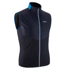 Bodywarmer voor langlaufen heren XC S 500 blauw/zwart