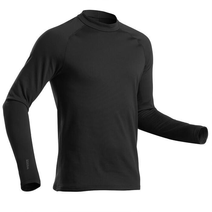 男款滑雪底層上衣500 - 黑色