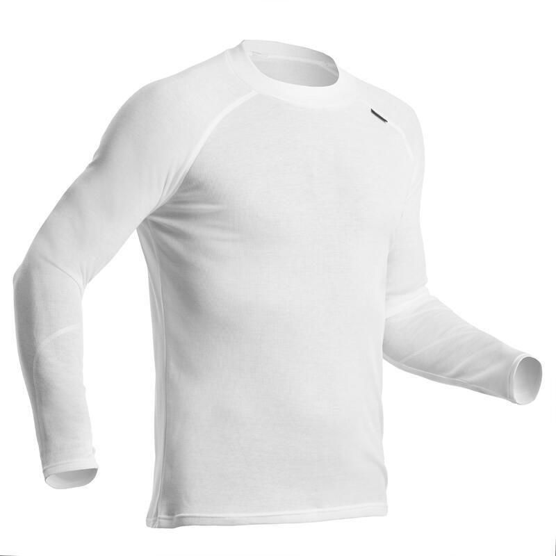 Thermoshirt voor skiën heren 100 wit
