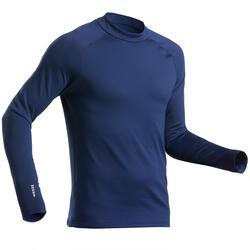 Thermoshirt voor skiën heren BL 500 marineblauw.