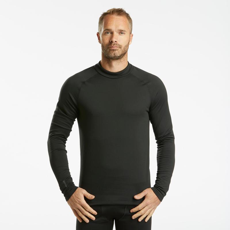 Sous-vêtement de ski homme 500 haut noir