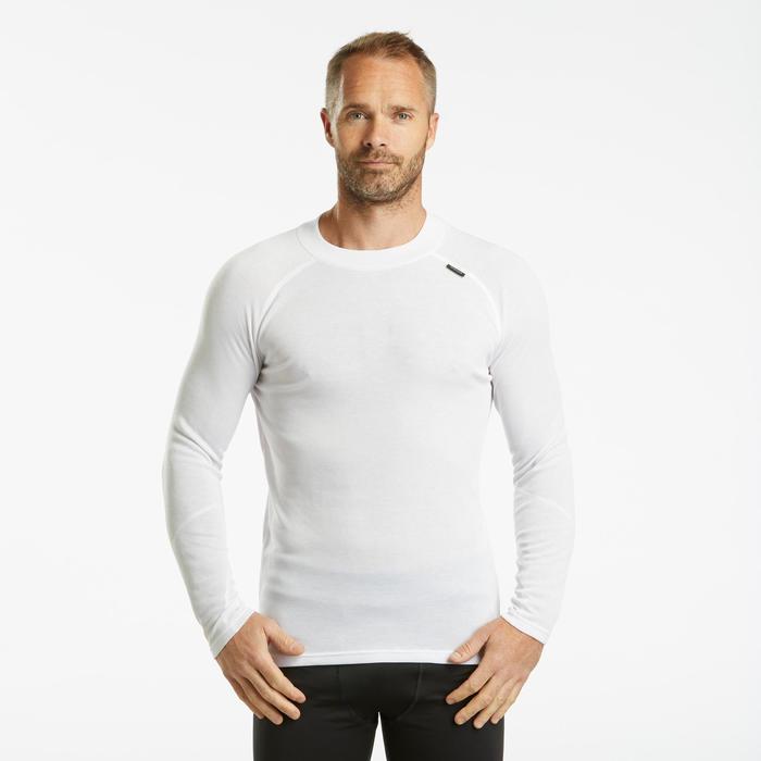 Sous-vêtement de ski homme 100 haut blanc