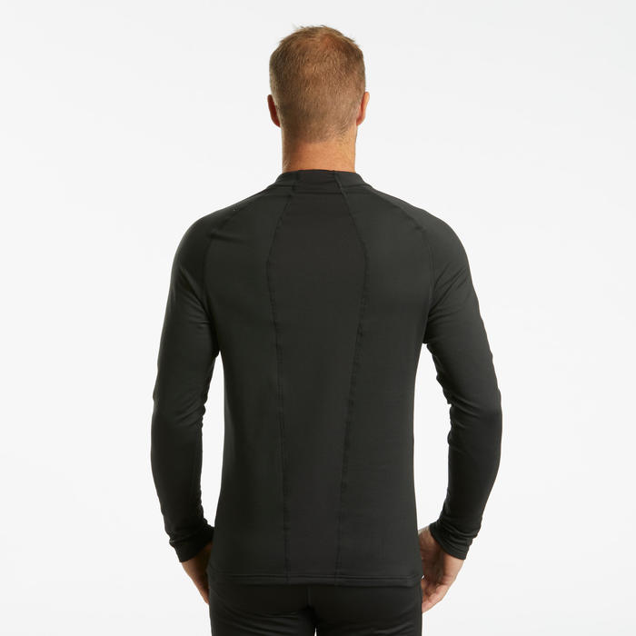 Men's Ski Base Layer Top 500 - Black