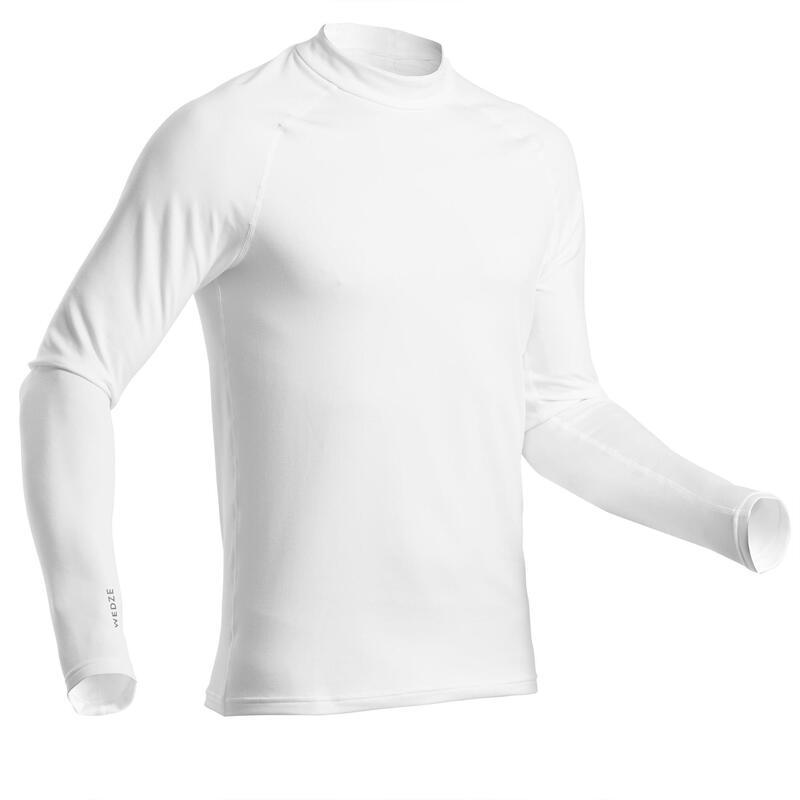 Thermoshirt voor skiën heren 500 wit