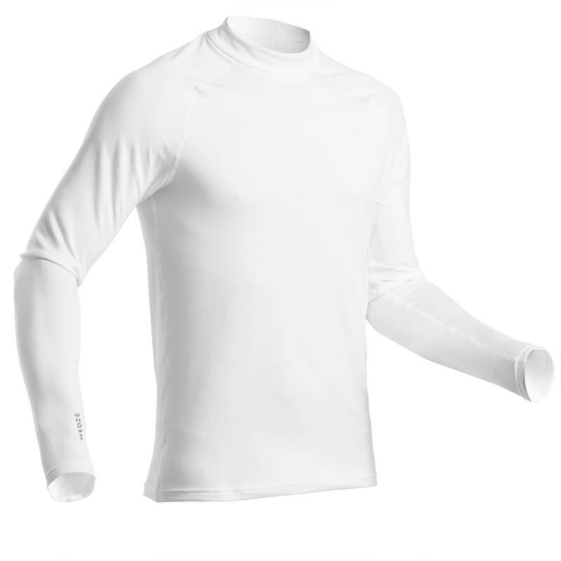 Pánske spodné tričko ski 500 biele