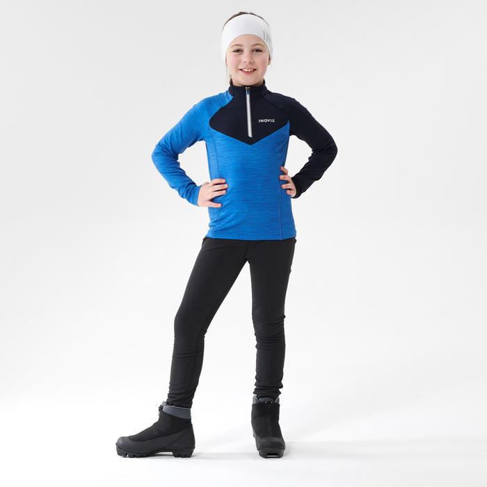 Thermoshirt voor langlaufen kinderen XC S TS 100 blauw
