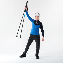 Tee-shirt manches longues chaud bleu - XC S TS 100 - enfant
