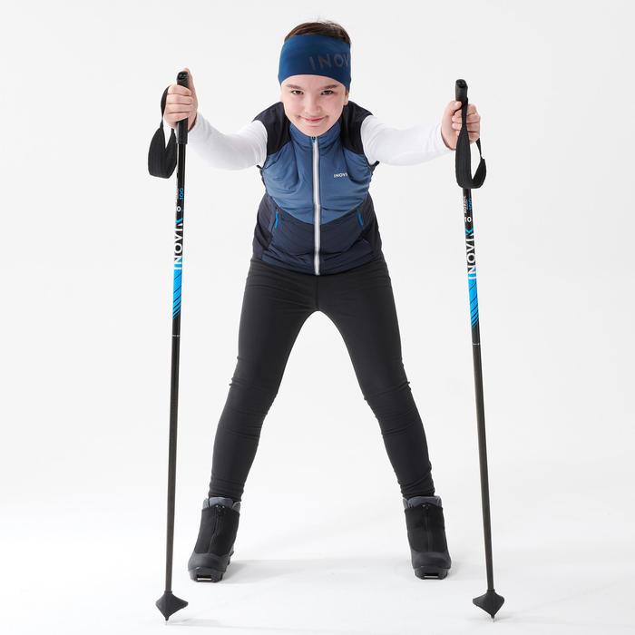 Gilet de ski de fond bleu marine - XC S GILET 500 - enfant