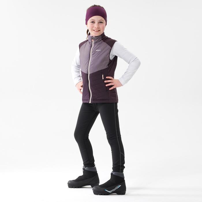 Gilet de ski de fond violet - XC S GILET 500 - enfant
