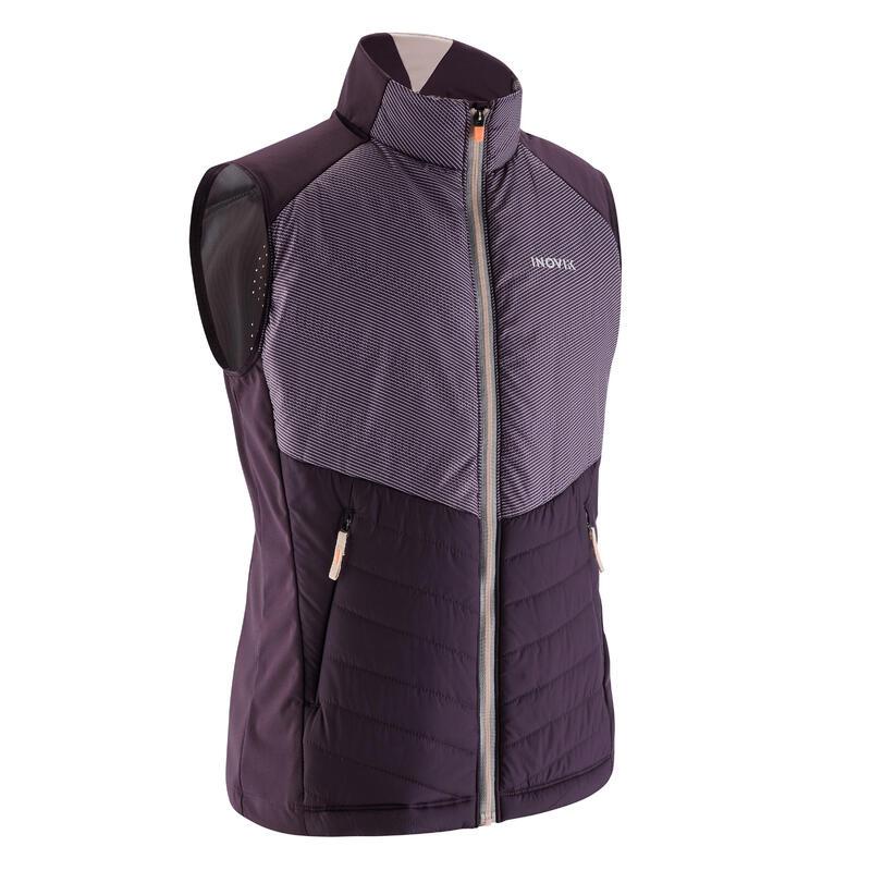 Chaleco esquí de fondo violeta - XC S CHALECO 500 - niños