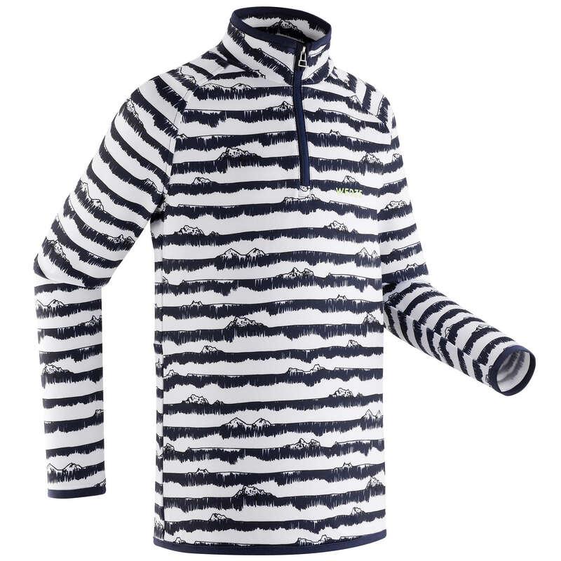 CHLAPECKÁ PRVNÍ A DRUHÁ VRSTVA NA LYŽOVÁNÍ Lyžování - DĚTSKÉ SPODNÍ TRIČKO S PRUHY WEDZE - Lyžařské oblečení a doplňky