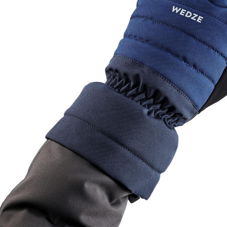 ADULT DOWNHILL SKI GLOVES 500 - NAVY BLUE