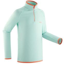 Sous-vêtement de ski enfant FRESHWARM 1/2 zip haut vert menthe