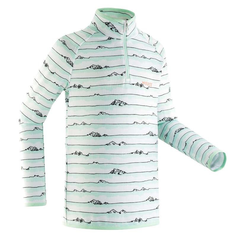 LENJERIE DE CORP SCHI COPII Imbracaminte - Bluză Freshwarm fermoar scurt  WED'ZE - Imbracaminte