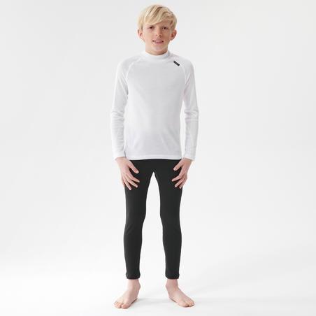 Kids' Ski Base Layer Top 100 - White