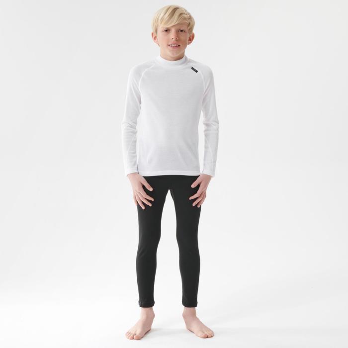 Sous-vêtement de ski enfant 100 haut blanc