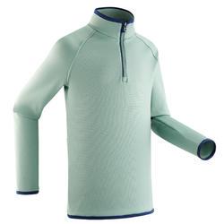 Camisola térmica de ski Freshwarm 1/2 fecho de correr criança Verde-água