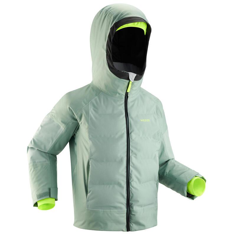 Geacă impermeabilă schi 580 WARM Verde Copii