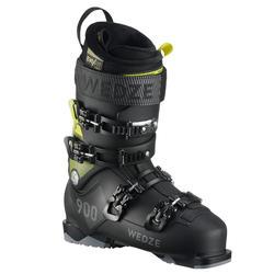 Skischoenen voor pisteskiën heren Fit 900 zwart/geel