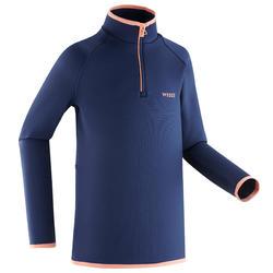Sous-vêtement de ski enfant FRESHWARM 1/2 zip haut bleu