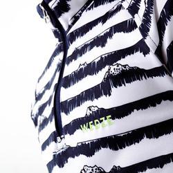 Thermoshirt voor skiën kinderen BL Freshwarm 1/2 rits gestreept blauw