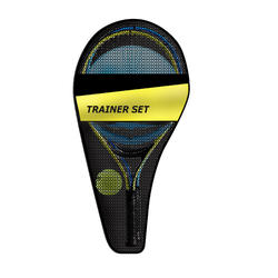 Set Tennis Trainer voor kinderen Duo 2 rackets 1 Ball is Back 1 hoes