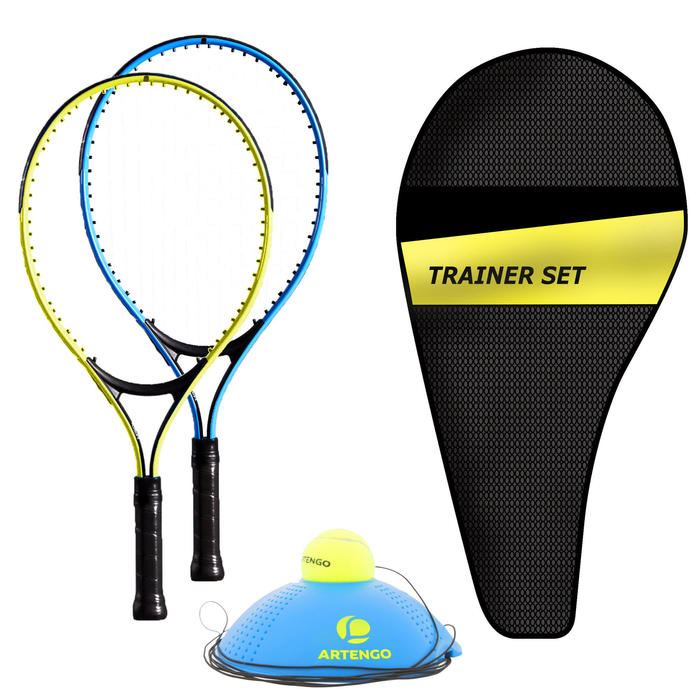 SET TENNIS TRAINER JUNIOR DUO 2 RAQUETTES 1 BALL IS BACK 1 HOUSSE