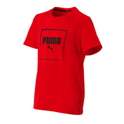 T-shirt regular boy rouge Puma