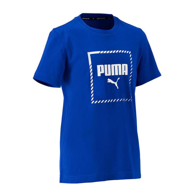 Camiseta regular niños azul royal Puma