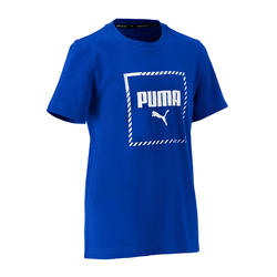 T-shirt de Ginástica Corte Regular Rapaz Azul Forte