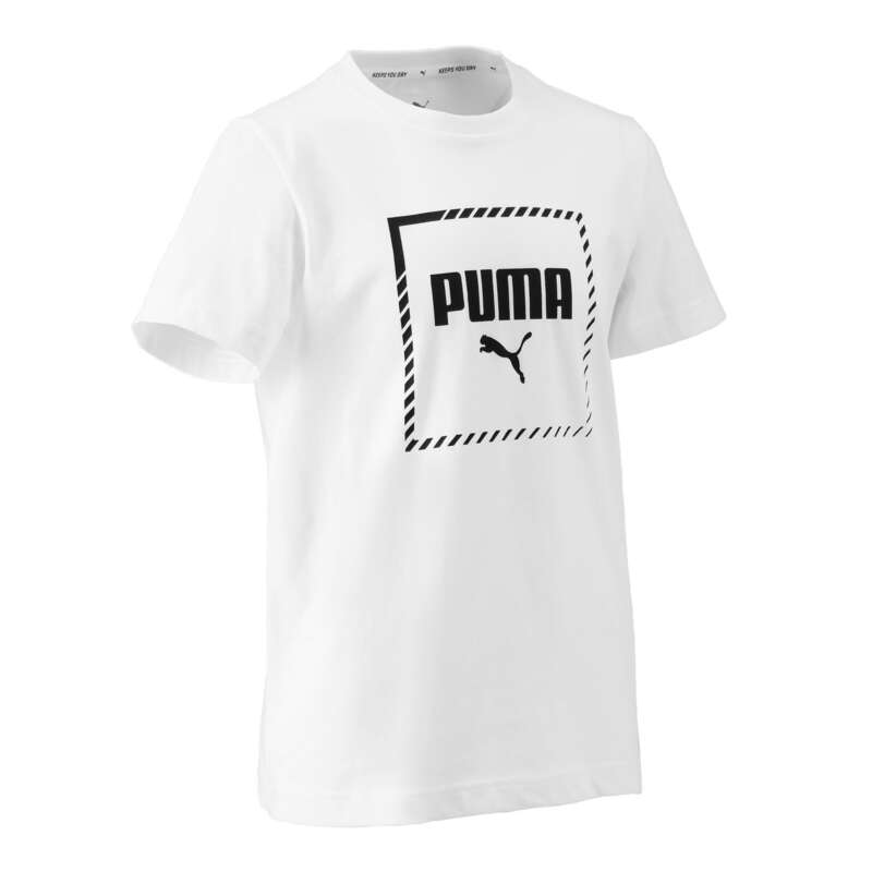 ÎMBRĂCĂMINTE GIMNASTICĂ BĂIEȚI Educatie fizica copii, bebe - Tricou Puma regular Alb Băieţi PUMA - Imbracaminte baieti