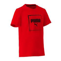 T-shirt voor jongens rood regular fit